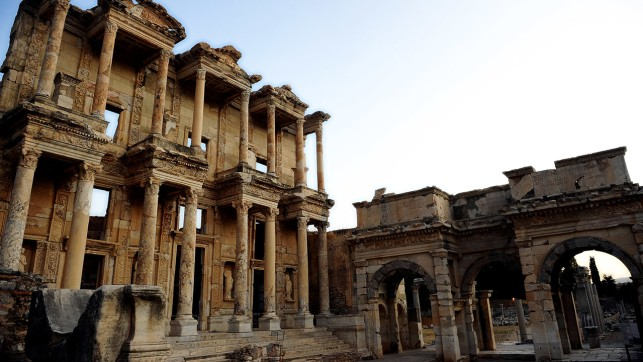 Ancient Library Of Celsus In Ephesus